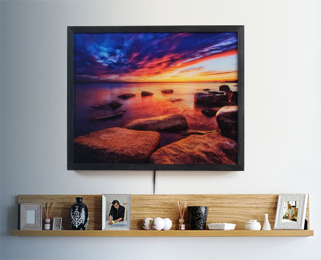 Gallery Lightbox - Backlit Acrylic Print Example
