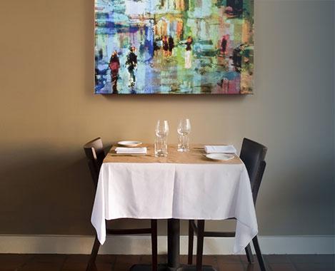 Gallery Canvas Wrap - Restaurant Example