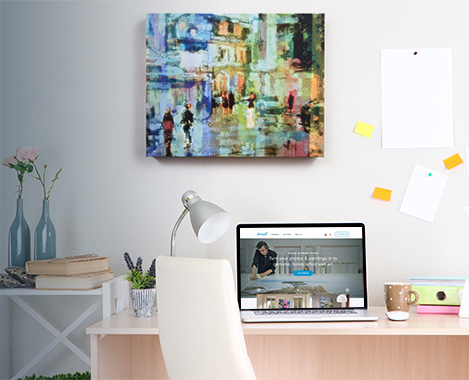 Gallery Canvas Wrap - Office Example